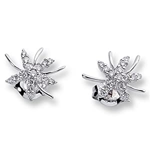 Ladies Diamond Snowflake Earrings