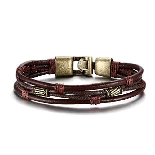 Red Dandelion Fashion High Quality Cool Genuine Leather Braided Rope Wistband Men Bracelet (Dr Brown Bottle Cooler Bag compare prices)
