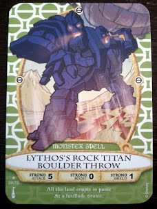 Sorcerers Mask of the Magic Kingdom Game, Walt Disney World - Card #09 - Lythos's Rock Titan Boulder Throw - 1