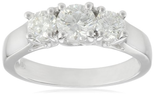 14k Gold 3-Stone Diamond Ring (1 cttw, H Color,