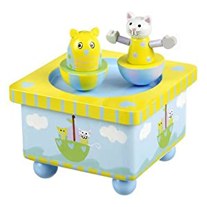 Orange Tree Toys Music Box Owl And Pussy Cat