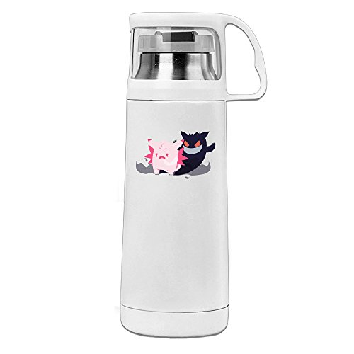 Beauty Pokemon Clefable Gengar Thermos Cup Mug With A Handle Vacuum Insulated Cup For Hot And Cold Drinks Coffee,Tea Travel Thermal Mug,14oz White (Miami Dolphins Thermal Shirt compare prices)
