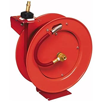 "Lincoln Retractable Air Hose Reel w/ 50 ft of 1/2"" Air Hose (50' Hose"