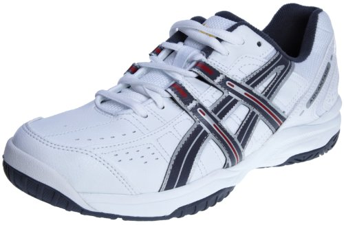 Asics Men's Advantage 4 Oc White/Storm/Red Tennis Shoe E108Y0175 9.5 UK