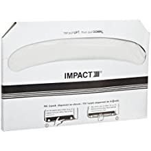 """Impact 1125 Toilet Seat Cover, Box Size 10-1/2"""" Height x 15"""" Width x 1"""" Depth, White (Case of 2500)"""
