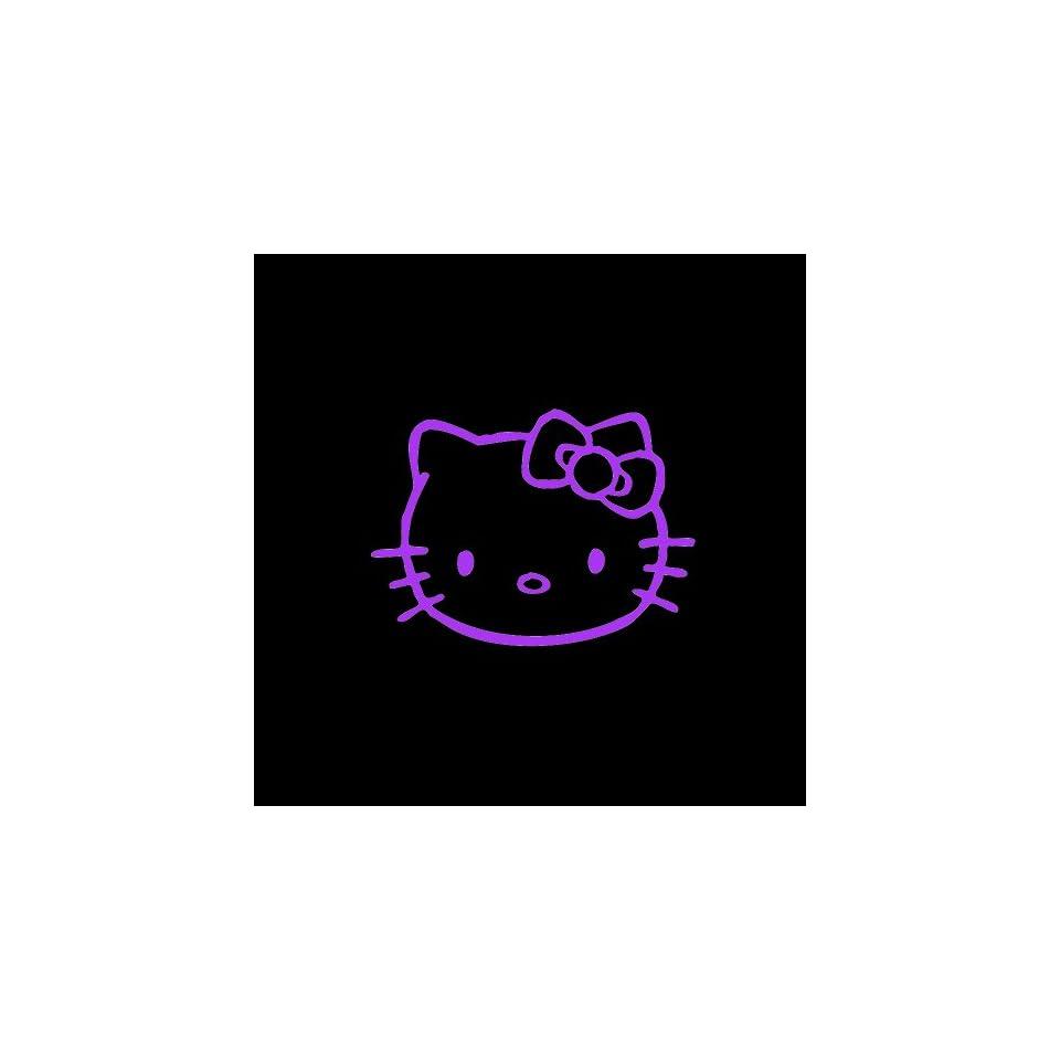 Hello Kitty Car Window Decal Sticker Purple 5 Automotive