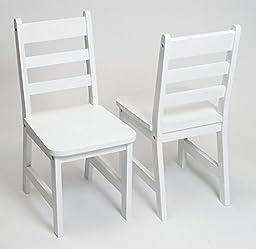 Lipper International 523-4W Child\'s Chairs, Set of 2, White