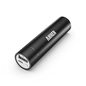 Anker 2nd Gen Astro Mini 3200mAh Lipstick-Sized Portable Charger External Battery Power Bank with PowerIQ Technology for iPhone 6 Plus 5S 5C 5 4S, iPad Air 2 Mini 3, Samsung Galaxy S6 S5 S4 Note Tab, Nexus, HTC, Motorola, Nokia, PS Vita, Gopro, more Phones and Tablets and More (Black)