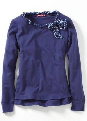 Mamaway Breastfeeding/Nursing/Maternity Clothes - 1054 Polka-dot Scarf Nursing Top