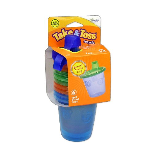 The First Years Take & Toss Spill-Proof Cups - 7 oz - 1