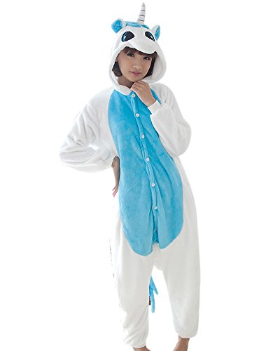 Keral Kigurumi Pigiama Adulto Anime Cosplay Halloween Costume Attrezzatura Blu Unicorn M
