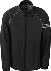 adidas Golf Mens ClimaProof 3-Stripes Full-Zip Jacket - BLACK WHITE STERLING - by adidas