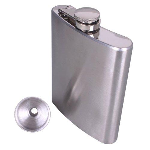 Alcohol Flask - 8oz Stainless Steel Hip Liquor Alcohol Flask + Screw Cap