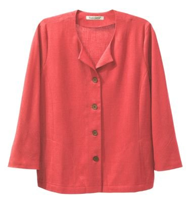 TravelSmith Womens No-Hassle Linen 3/4-Sleeved Jacket