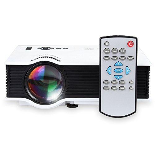 DMG UC40 Portable LCD LED Home Theater Cinema Projector support AV USB SD VGA HDMI