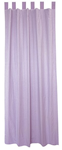 Seed Sprout 2 Piece Curtain Panels, Gingham/Lavender, 84""