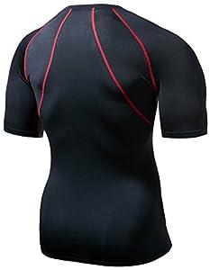 CLSL TM-R14-BKRZ_Large j-XL Tesla Men's Cool Mesh Compression Baselayer Short Sleeve T Shirts R14