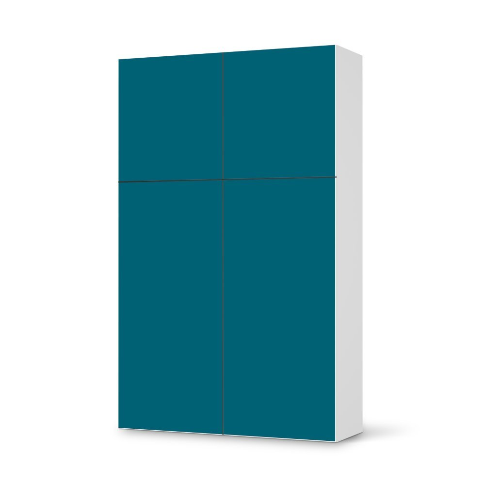 Folie IKEA Besta Schrank Hochkant 4 Türen (2+2) / Design Aufkleber Türkisgrün 1 / Dekorationselement bestellen