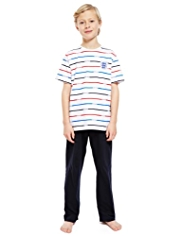 England FA Pure Cotton 3 Lions Striped Pyjamas