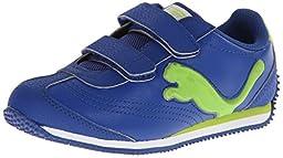 PUMA Speeder Illuminescent V Sneaker , Limoges/Lime Green, 4 M US Toddler