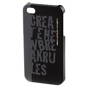 aha: Croom Handy-Cover für Apple iPhone 4/4S schwarz