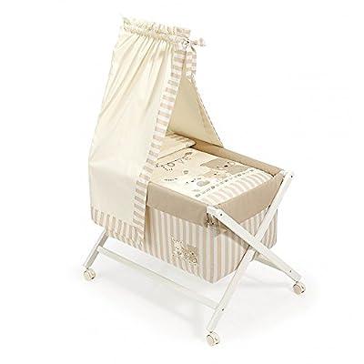 minicuna Canopy Folding Love Beige: Structure + vestidura + CANOPY + Quilt desenfuntable + MATTRESS + Pillow