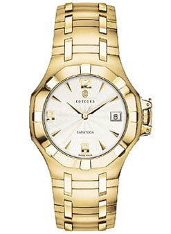 Concord Saratoga 18k Solid Gold Mens Watch - 0310821