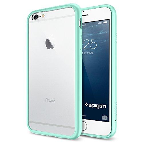 iPhone 6 ケース, Spigen®  [ クリア バンパー] Apple iPhone 4.7 (2014) ウルトラ・ハイブリッド The New iPhone アイフォン6 (国内正規品) (ミントSGP11021)