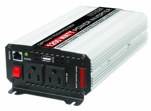 Rally (7466) 1200W Inverter with USB Port, Battery Clamp and Cable