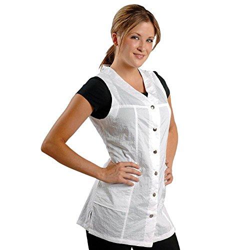 Jmt beauty sleeveless white salon smock jmt beauty beautil for Spa uniform amazon