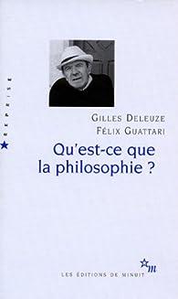 Qu'est-ce que la philosophie ? par Gilles Deleuze