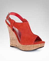 Kitt Leather Cork Wedge Sandal