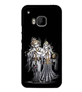 printtech Lord God Radha Krishna Back Case Cover for HTC One Hima