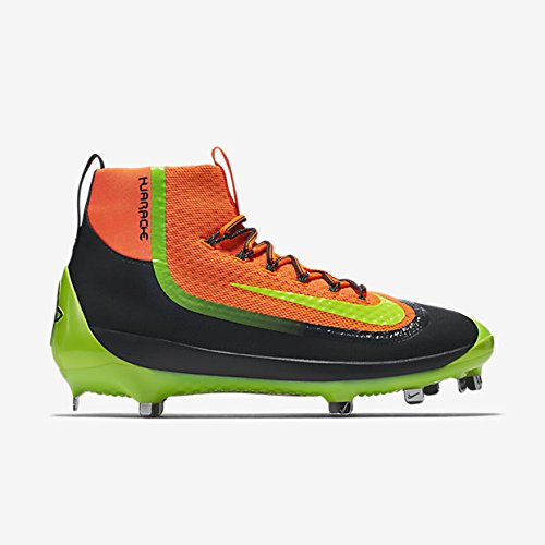 pictures of Nike Air HUARACHE 2KFILTH ELITE Mid Baseball Cleats (10, Orange/Anthracite/Volt)