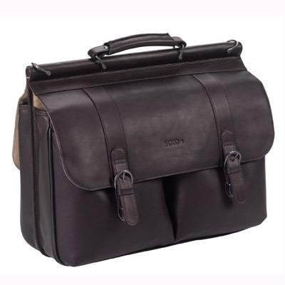 SOLO D535-3 Classic Collection Colombian Leather 15.6&#8243; Laptop Portfolio