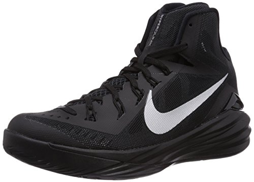Nike Mens Hyperdunk 2014 Black/Metallic Silver Basketball Shoe 8.5 Men US