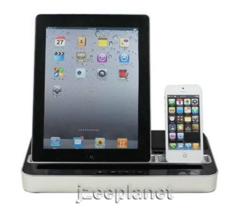 Ipega 2 In 1 Charger Speaker Dual Dock Station For Smartphones And Tablets: Iphone, Ipad, Ipod, Galaxy
