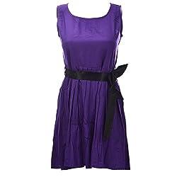 Xniva Rayon Purple Party Wear Dress For Women_S