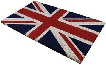 JVL Flag Pvc Tapis de coco de porte, Union Jack