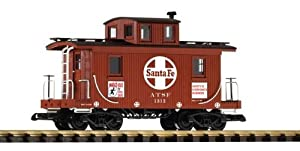 Piko G Scale Model Trains - Sf Caboose 1312 With Safety Slogans - 38816 by PIKO
