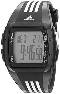 adidas Unisex ADP6093 Digital Black Striped Watch with Polyurethane Band