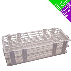 SEOH 13mm Plastic Test Tube Rack for 90 Tubes: Science Lab