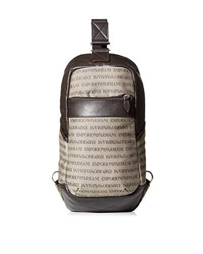 EMPORIO ARMANI Men's Sling Backpack, Brown
