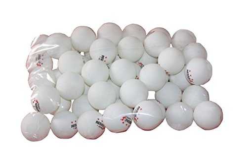 Big Save! REGAIL 50 White 3-star 40mm Table Tennis Balls Advanced Training Ping Pong Balls