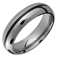 Una Titanium Band with Black Stripe. Choose your Color for Free