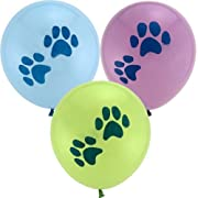 6 count Puppy Dog Paw Print Party Balloons