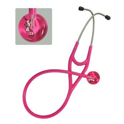 Cheap Ultrascope Pediatric Adult Stethoscope with Light Green/Light/Light Green Tubing, Stick Kids Design (UP117LGLG)