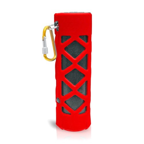 Pyle Pwpbt30Rd Bluetooth Water Resistant Flashlight Speaker With Call Answering Mic, Fm Radio, Micro Sd Reader And Aux-Input (Red)