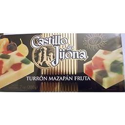 Turrón Mazapán Fruta Castillo de Jijona 7 OZ (200g) (Pack of 2)