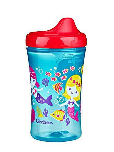 Gerber Graduates Advance Developmental Hard Spout Sippy Cup in Girl Colors, 10-Ounce (Pack of 4)